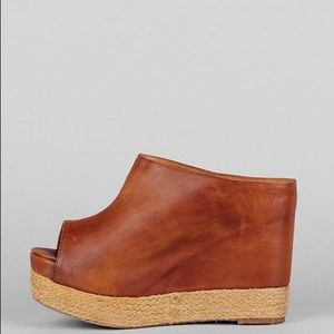 Jeffery Campbell Virgo Leather Espadrille Wedge